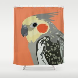 Marcus the cockatiel Shower Curtain