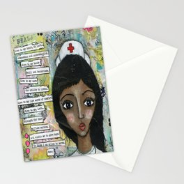 Nurse - African American  Stationery Cards