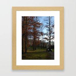 Autumn Golfing Framed Art Print