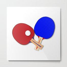 Pair Of Table Tennis Bats Metal Print