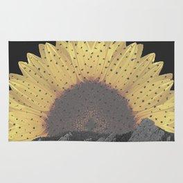 Boulder Colorado Flatirons Sunflower Decor \\ Chautauqua Park Floral Yellow Nature Bohemian Style Rug