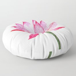 pink lotus flower Floor Pillow