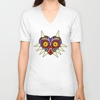 majoras mask V-neck T-shirts featuring Majoras Mask by fiono