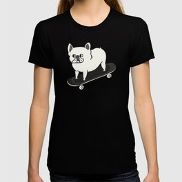 Skateboarding French Bulldog T-shirt