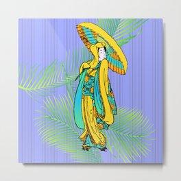 tropical geisha Metal Print
