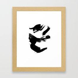 Black Door 3 Framed Art Print