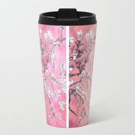 Van Gogh Almond Blossoms Deep Pink to Peach Collage Travel Mug