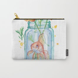 Goldfish and California Poppies Carry-All Pouch