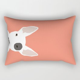 Bull Terrier cute puppy dog art print pet gift pets dog breed animal children kids illustration  Rectangular Pillow