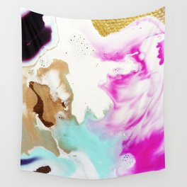 Happiness Ever Abstract Watercolor Painting Wall Tapestry