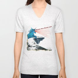 Where You Takin' Me? Laser Unicorn Vacations in Niagara Falls Unisex V-Neck