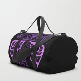 Tlingit thunderbird purple Duffle Bag