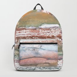 Rosy brown blurred watercolor picture Backpack