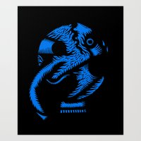 angel Art Prints featuring Angel by Stephane Eck