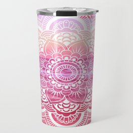 Water Mandala Hot Pink Fuchsia Travel Mug