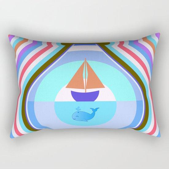 Ship and waves Rectangular Pillow
