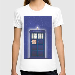 vintage police box starfield T-shirt