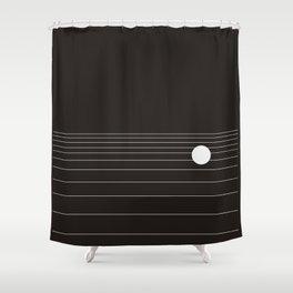 Calm water Lake Moon Minimal Shower Curtain
