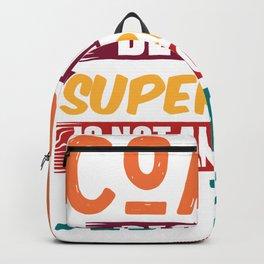 Coach superhero job saying gift Backpack