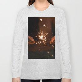 Golden Sparklers (Color) Long Sleeve T-shirt