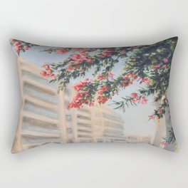 Eilat street Tel aviv_ Oil on canvas Rectangular Pillow
