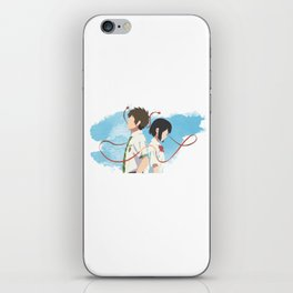 Your Name Minimalist (Taki and Mitsuha) iPhone Skin
