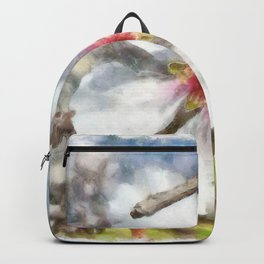 Almond Blossom Study Watercolor Backpack