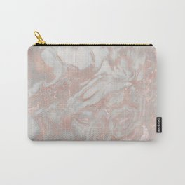 French polished rose gold marble Carry-All Pouch