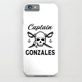 Personalized Name Gift Captain Gonzales iPhone Case