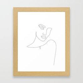 Flirty Look Framed Art Print