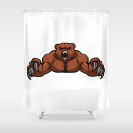 angry, ape, beast, cartoon gorilla, cartoon, gorilla, gorilla cartoon, gorilla strong, king, kong, Shower Curtain