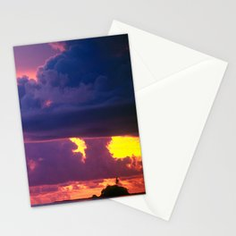 Purple Sunset Over Tiny Island in Micronesia Stationery Cards