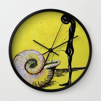 pee wee Wall Clocks featuring pee by sewec