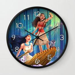 Pocahontas & Moana Wall Clock