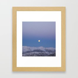Full Moon Over Whistler Blackcomb | British Columbia, Canada | John Hill Photography Framed Art Print