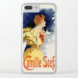Camille Stéfani Clear iPhone Case
