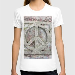 Peace sign on sidewalk in California T-shirt