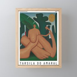 Antropofagia - Tarsila do Amaral - Art Poster Framed Mini Art Print
