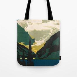 Lovely Lake Louise vintage travel ad Tote Bag
