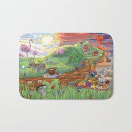 Large Fantasy Hand Painted Print 200x70cm Bath Mat