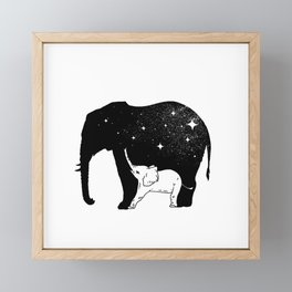 Big Little Elephant Framed Mini Art Print