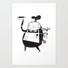 The Baker Art Print