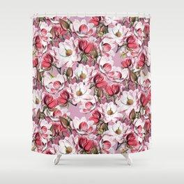 Vintage Magnolias Shower Curtain