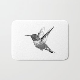 Hummingbird-Flying-Bird-Animal,Nectar-Flower Bath Mat