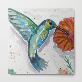 HUMMING BIRD - WATERCOLOR Metal Print