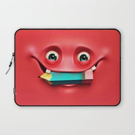 The Red Eat a Pencil Laptop Sleeve
