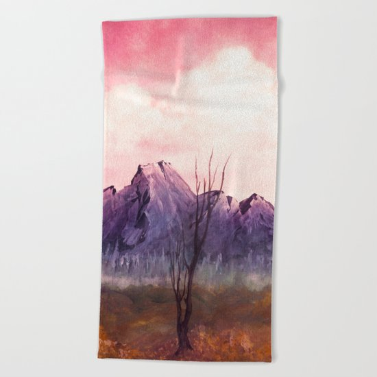 Over The Mountains II Beach Towel
