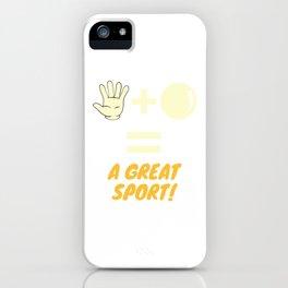 Handball, A Great Sport iPhone Case