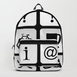 Tourist travel icon set Backpack