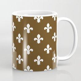 Pecan Southern Cottage Fleur de Lys Coffee Mug